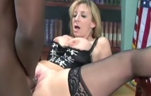Sara Jay takes a BBC in the office