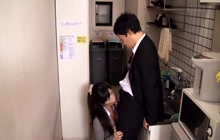 Secret Japanese fuck in the office