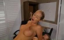 Busty teacher Nicole Aniston fucks in the office