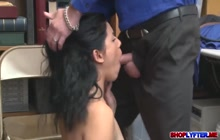 Naughty Luscious Monica Sage Screwed Hardcore by Officer