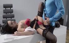 Slutty secretary fucked in the office