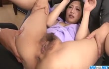 Japanese girl fucked in a threesome