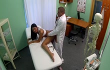 Babe fucked in the hospital office