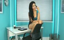 Indian girl Zohra in office