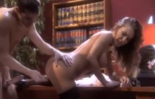 Jenna Presley busty lawyer takes big facial