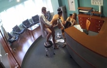 Nurse and doctor having threesome with a patient